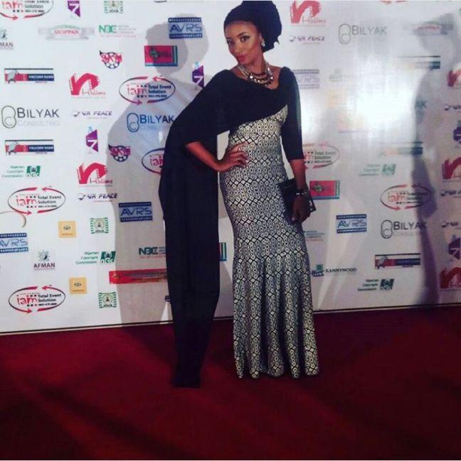Rahama Sadau on the red carpet